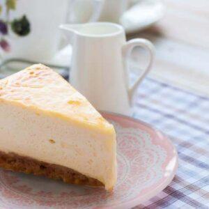 עוגת גבינה לבנה עם הפוך