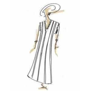 שמלה קלאסית בהירה