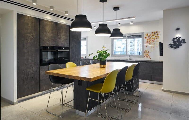 מטבח מעוצב של קרין ורשה - אדריכלות ועיצוב פנים